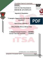 Calderon Estrada Francisca, Garcia Valverde Fernando. Unidad 2 , Operaciones Unitarias 3