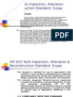 Tank Inspection Scope API 653