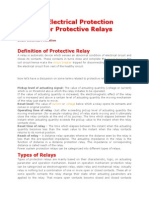 Types of Electrical Protection Relay