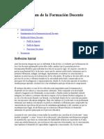 El Currículum de La Formación Docente