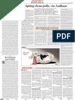 The Hindu Editorial October 2015