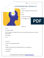 Brain Teaser 1-6 Answers