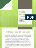 mu503 curriculum project