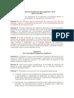 Ley Del Ejercicio Profesional de La Ingeniería