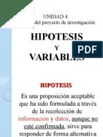 Clase 7 - Hipotesis y Variables