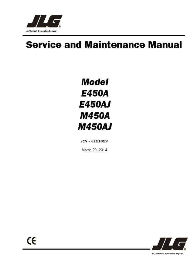 jlg eaj maj service manual cylinder engine elevator