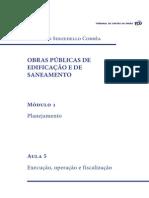 Obras Publicas Edificacao Saneamento Aula5 (Execução, Operação e Fiscalização)