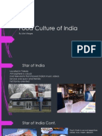 food culture of india ppt