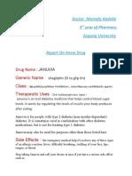 Report on Januvia Drug
