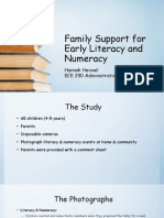 family support for early literacy and numeracy