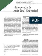NIC NOC Histerectomia Abdominal