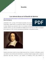 Los Valores Éticos en La Filosofía de Spinoza