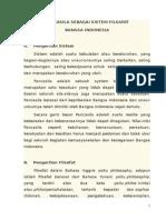 Modul Kuliah 4 Pancasila Sebagai Sistem Filsafat Bangsa Indonesia