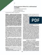 Cambio conformacional de un receptor de membrana mediante espectroscopía de fluorescencia