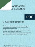 elaboración de colonias