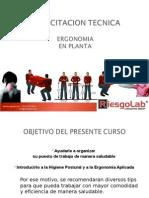 Ergonomia para Planta - RiesgoLab - 2012.pps