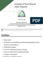 Collapse Assessment of Steel Braced Frames