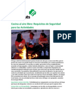Spanish Outdoor Cooking Safety Activity Checkpoints