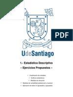 1.1 Estadistica Descriptiva - Ejercicios Propuestos USACH Análisis estadístico