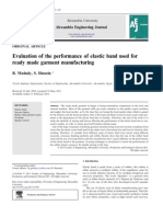 Evaluation of the Performance of Elastic Band Used For