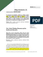 1 DIFABIO de ANGLAT El Critical Thinking Movement y La Educación Intelectual