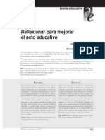2 SÁNCHEZ SIERRA Reflexionar Para Mejorar El Acto Educativo