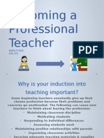 becoming a professional teacher