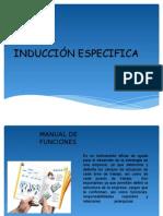 INDUCCIÓN  ESPECIFICA