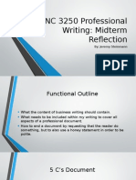 enc 3250 professional writing midterm reflection