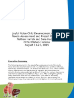 jncdc - needs assessment and project overview