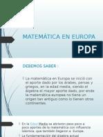 Matemática en Europa