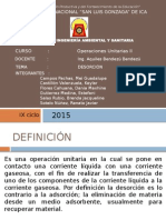 Desorcion Operaciones Unitarias II