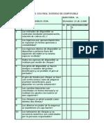 Cuestionario de Control Interno de Disponible