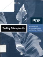 Richard E. Creel Thinking Philosophically an Introduction to Critical Reflection and Rational Dialogue 2001