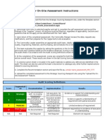 On Site Assessment Template