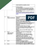 Checklist OHSAS Audit