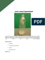 Balloon Lung Experiment