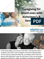 Caregiving for loved ones with Alzheimer's & Dementia