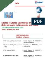 17 01 2015 Costos y Gastos Deducibles Del Impuesto a La Renta