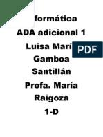 Informática Luisa Ada Adicional