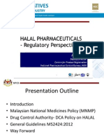 Halal Pharmaceuticals - Regulatory Perspectives