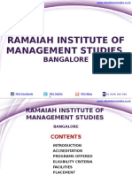 Ramaiah Institute of Management Studies Bangalore|RIMS