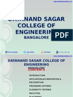 Dayanand Sagar College of Engineering Bangalore|DSCE|MBA
