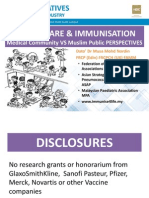 Health Care & Immunisation - Medical Community Vs Muslim Public PERSPECTIVES