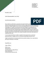 letter of recommendation - lacroix