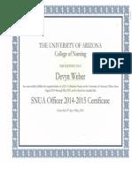 snua officer certificate