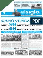 Edición Impresa El Siglo 07-12-2015