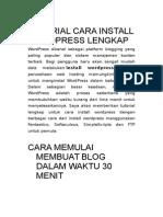 Tutorial Cara Install Wordpress Lengkap