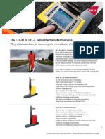 The LTL XL & LTL X Retroreflectometer Features