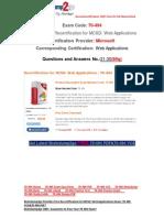 [Braindump2go] Latest 70-494 Exam Questions Free Download21-30